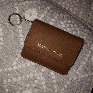 Michael Korda card holder coin purse keychain